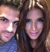 Photo: Chelsea's Cesc Fabregas enjoys dinner with his girlfriend