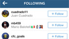 Fabregas follows Cuadrado on Instagram
