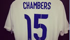 PHOTO: Chambers shows off England shirt