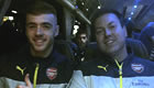 Photo: Calum Chambers all smiles on Arsenal's coach home from Man Utd