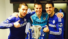 Photos: Hazard and Chelsea stars celebrate League Cup win in dressing room
