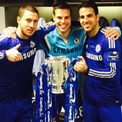 Chelsea stars all smiles after League Cup win