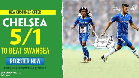Chelsea v Swansea: Win £50 from £10 on Chelsea, TV channel and prediction