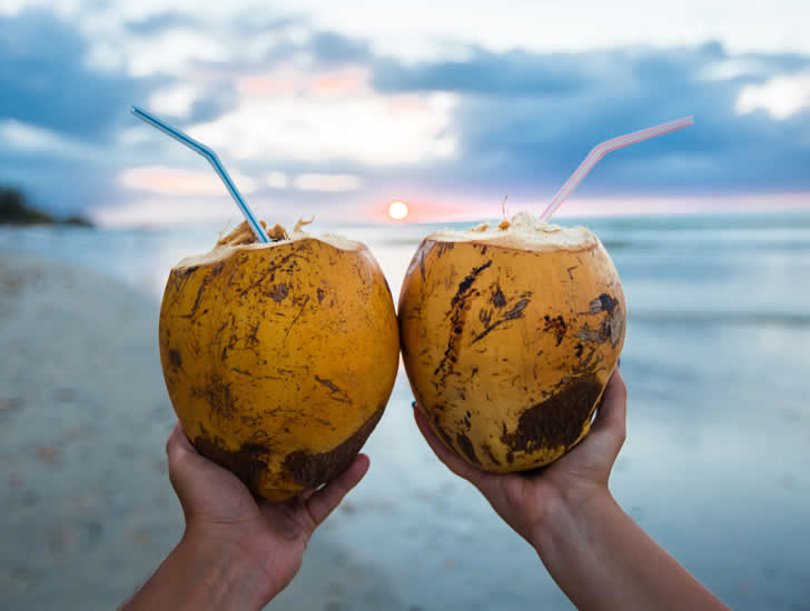 Coconut Water Sunset
