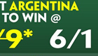 Get 6/1 enhanced odds on Argentina to beat Paraguay