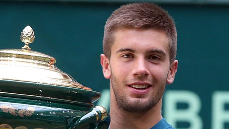 Halle 2018: Borna Coric ends Roger Federer grass run to win biggest title and career-high ranking