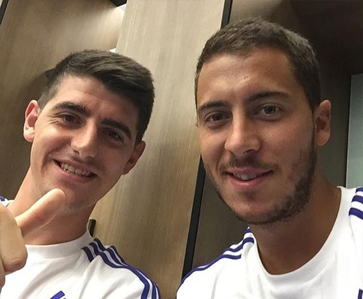 Thibaut Courtois and Eden Hazard
