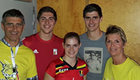 Photo: Chelsea star Thibaut Courtois poses for family picture