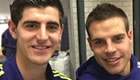 Courtois and Azpilicueta celebrate win