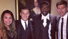 Photo: Philippe Coutinho poses with Liverpool duo at PFA awards