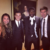 Coutinho poses with Liverpool duo at PFA awards