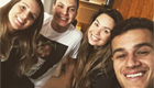 Coutinho chills with friends after Man City heroics