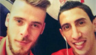De Gea and Di Maria snap photo on train to London