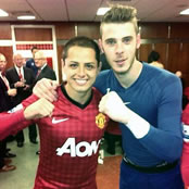 Photos: David De Gea bids farewell to Man Utd 'brother' Javier Hernandez
