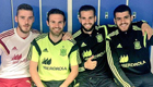 Photo: Man Utd duo David De Gea and Juan Mata pose with reported Arsenal target