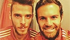 Photo: Man Utd star Juan Mata snaps Spanish selfie with David De Gea