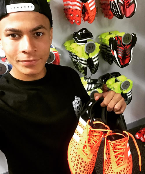 Photo dele alli shows off new boots ahead of swansea v tottenham