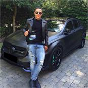 Depay poses with pimped out ride