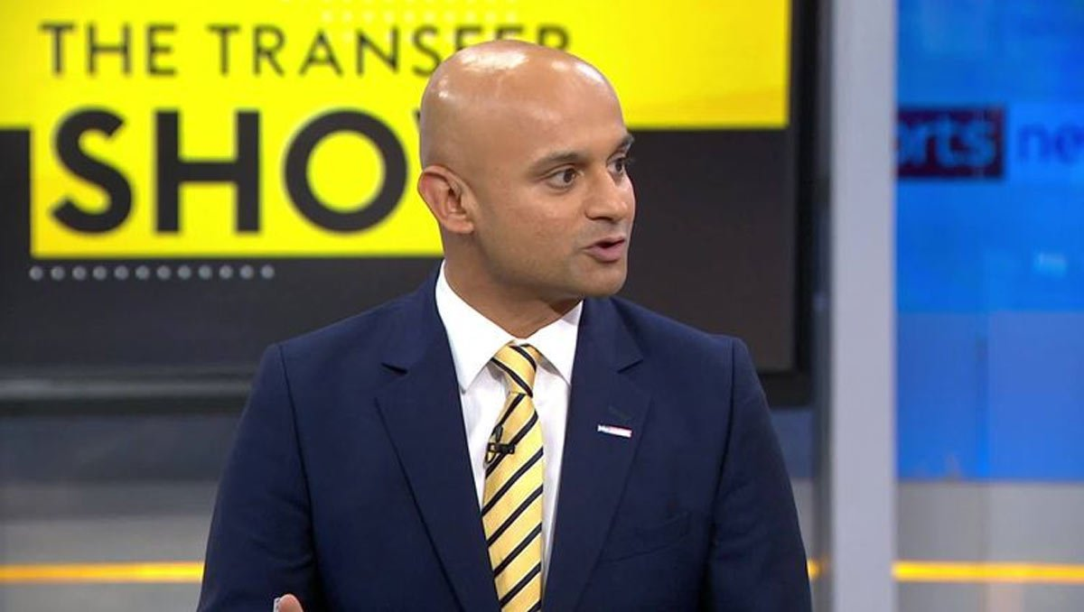 Sky Sports News reporter Dharmesh Sheth