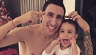 Di Maria poses for festive snaps with daughter