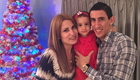Di Maria all smiles with his wife and daughter