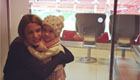 Photo: Angel di Maria's wife cheers on Man Utd at Old Trafford