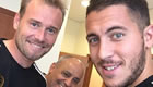 Hazard shows off new haircut