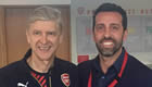 Photo: Wenger meets club chief, makes Arsenal transfer enquiry over striker