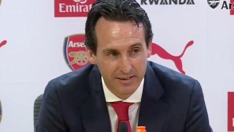 Unai Emery replies when asked if Arsenal can win the title