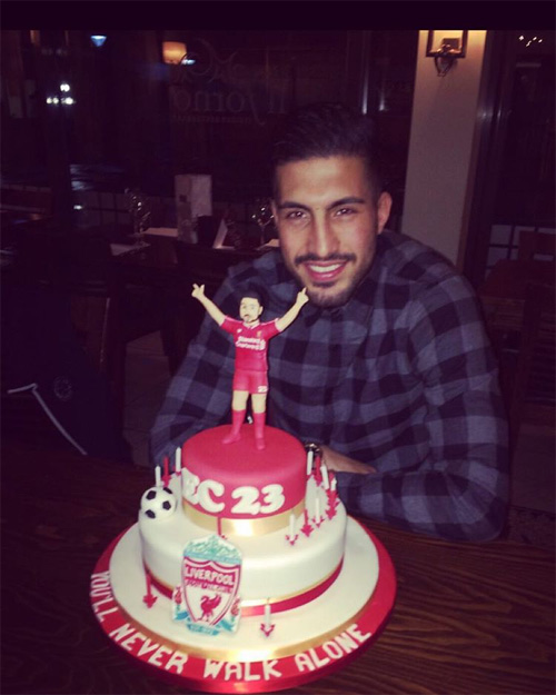 Photo Emre Can Receives Amazing Birthday Cake Ahead Of Liverpool V