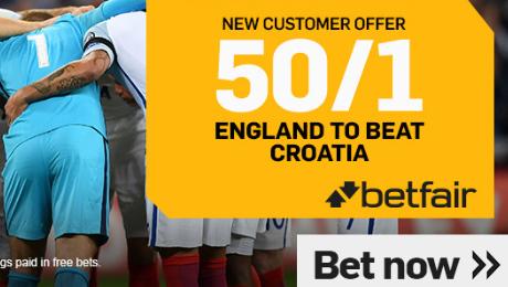 Croatia v England: 50/1 enhanced odds, prediction and kick-off time