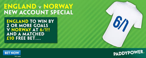 england v norway betting