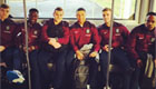 Wilshere snaps England stars ahead of flight
