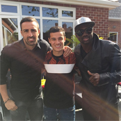 Liverpool star poses with birthday boy Coutinho