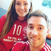 Eriksen cheers on Denmark
