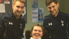 Photo: Tottenham duo Christian Eriksen and Ben Davies all smiles with fans