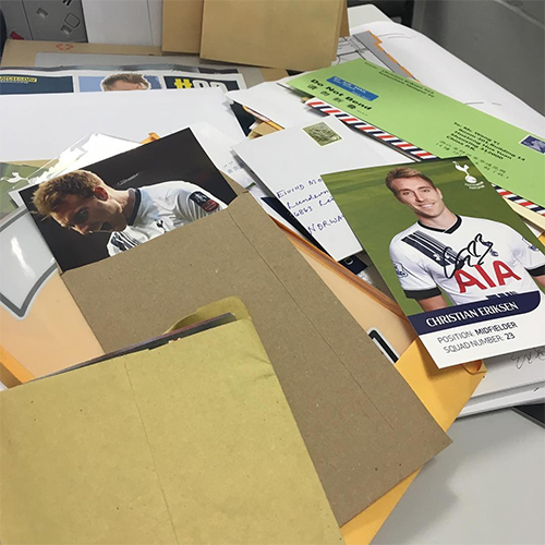 Photo: Christian Eriksen Responds To Fan Mail Ahead Of