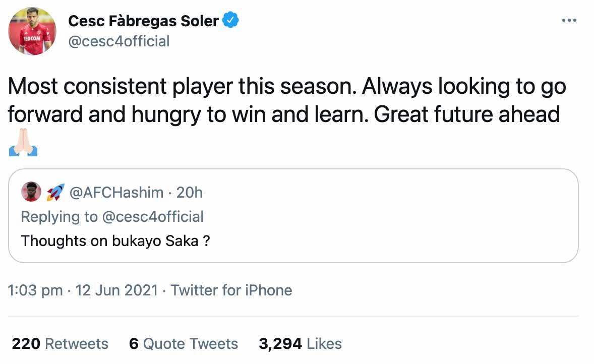 Fabregas Saka