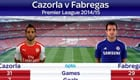 Stats compare Cazorla and Fabregas