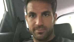 Photo: Cesc Fabregas all smiles as Chelsea return ahead of Liverpool clash