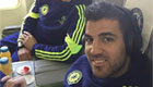 Photo: Chelsea's Cesc Fabregas listens to tunes with Cesar Azpilcueta