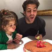 Fabregas blows out candles on 28th birthday cake