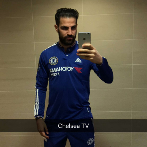 best service 90eb0 9e65d Cesc Fabregas all smiles ahead of Arsenal v Chelsea