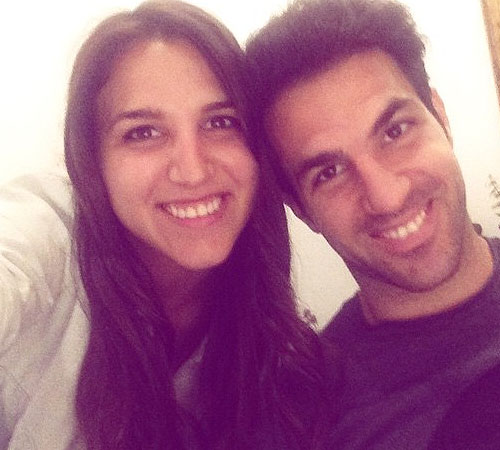 Photo: Chelsea's Cesc Fabregas Meets His Sister For