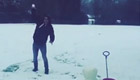 Photo: Man Utd's Radamel Falcao enjoys snow fight with his 'princesses'