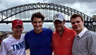 Federer poses by Sydney's Harbour Bridge