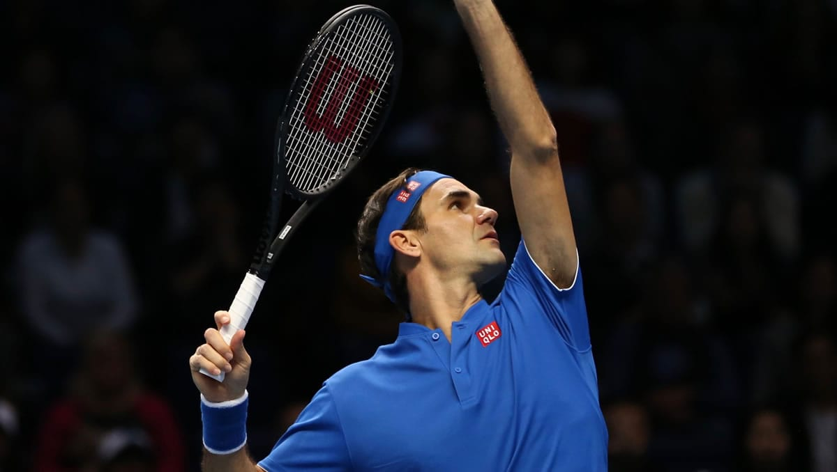 London 2018: Now with Uniqlo, but blue remains a favourite Federer choice.
