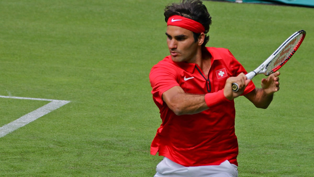Roger Federer at the London 2012 Olympics