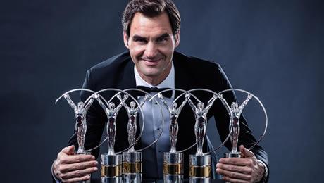 Roger Federer wins fifth Laureus Sportsman title, plus Comeback gong