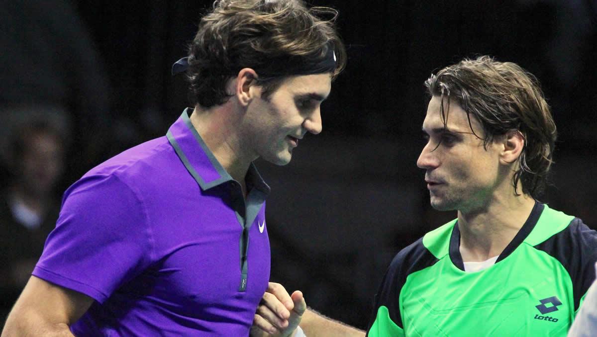 Roger Federer and David Ferrer